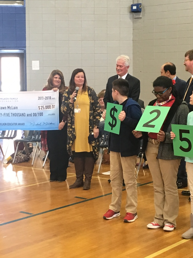 Rockets, Robots and 'Rithmetic earn Dawn McLain a $25,000 Milken Educator Award