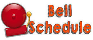 6th Grade Bell Schedule for 2018-2019