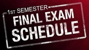 First Semester Exam Info