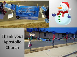 Thank you Apostolic Church on Landers Road