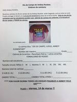 Spanish Field Day Shirt Order Form