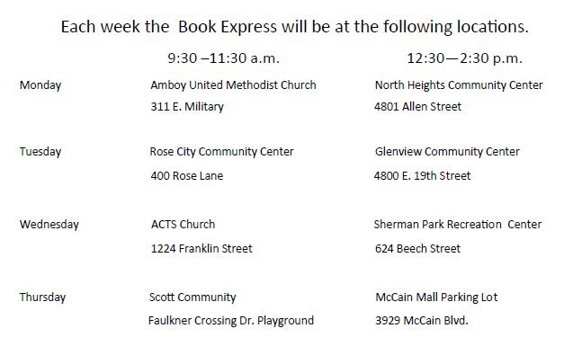 book express schedule
