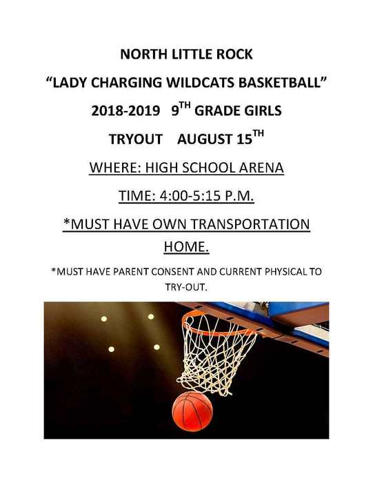 Girls Basketball 9th tryouts