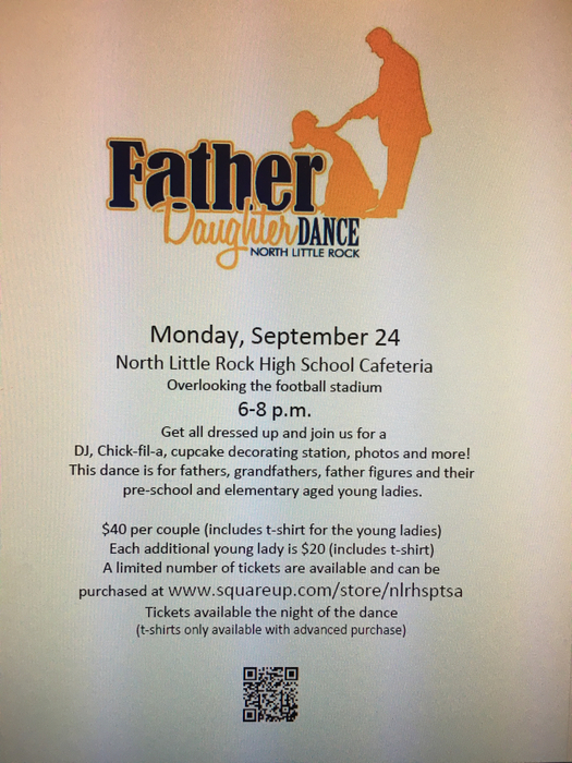 Father-daughter dance flyer