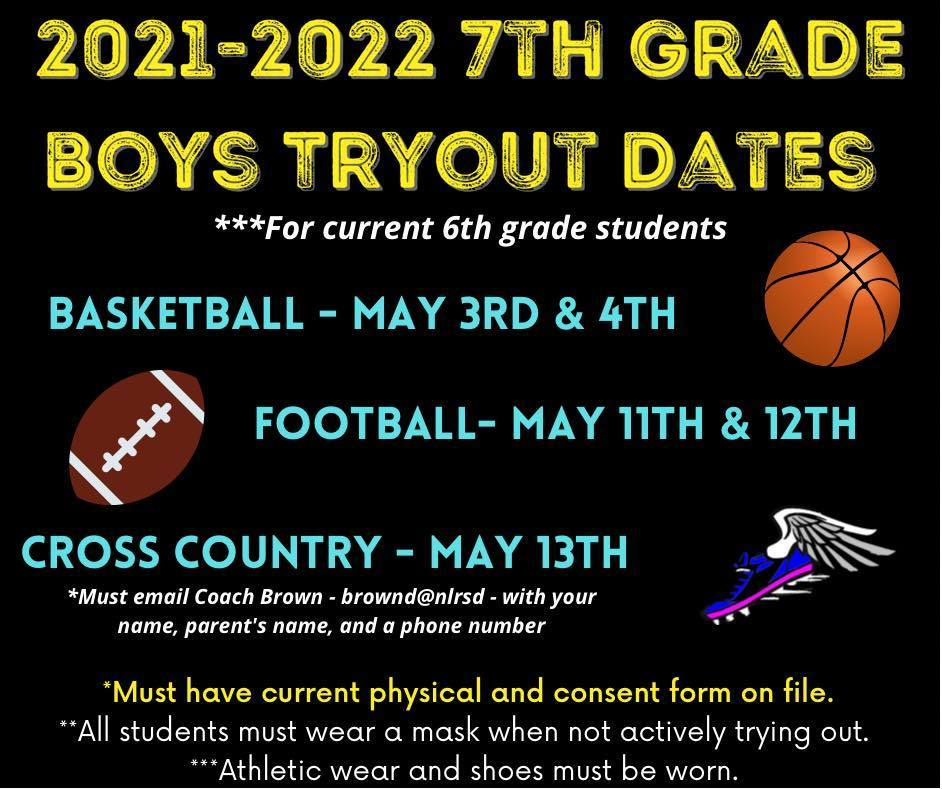 Boys Tryout Dates