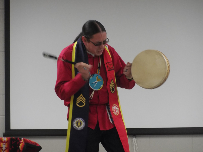 Native America drumming