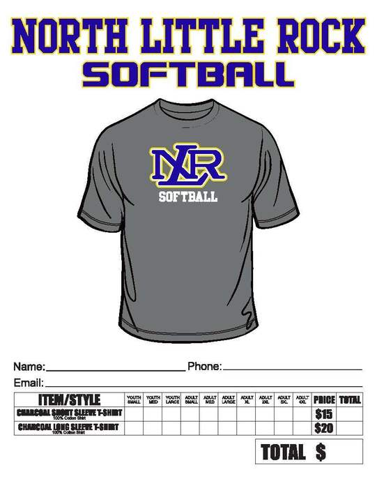 softball tee  order form
