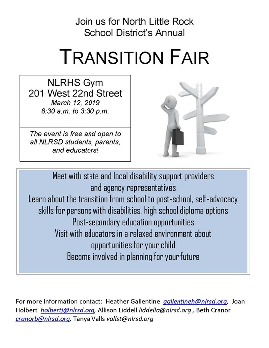 Flyer for Transition Fair