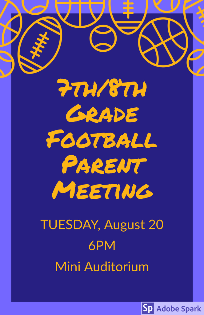 Flyer for parent meeting