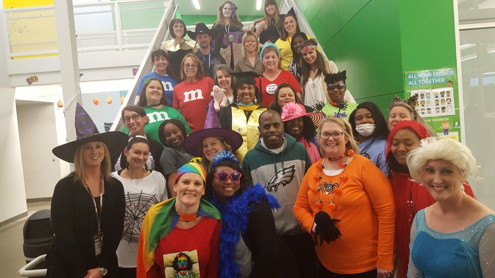 Glenview teachers on book character day