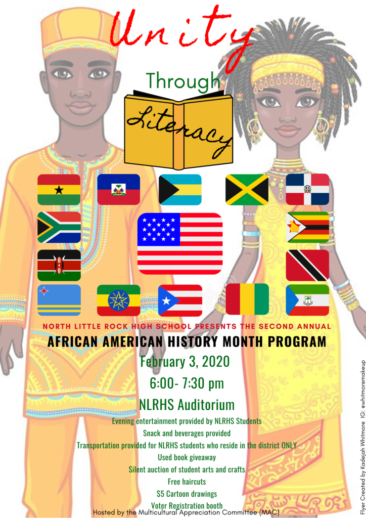 flyer for black history assembly