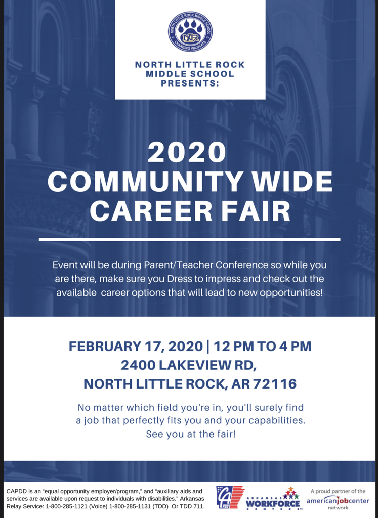 Flyer for Community Wide Career Fair
