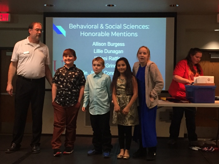 Photo of science fair winners