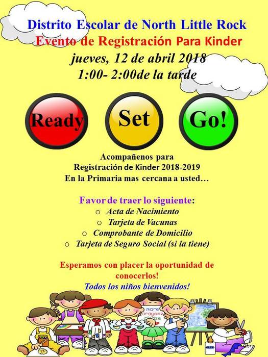Evento de Registración Para Kinder