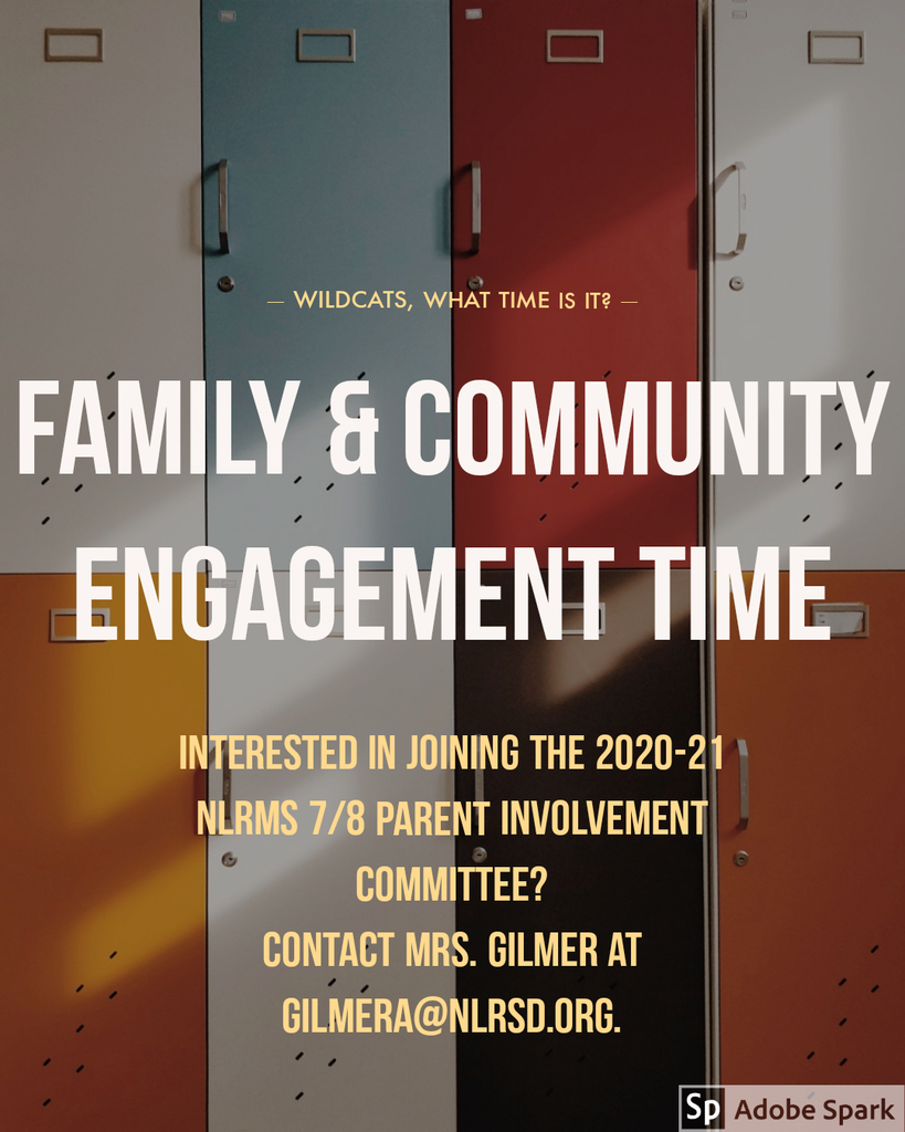 Flyer for 2020-2021 Parent and Community Involvement